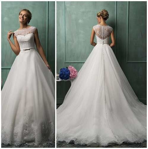 3ea8dd02ed hermoso vestido de novia corte princesa de encaje elegante