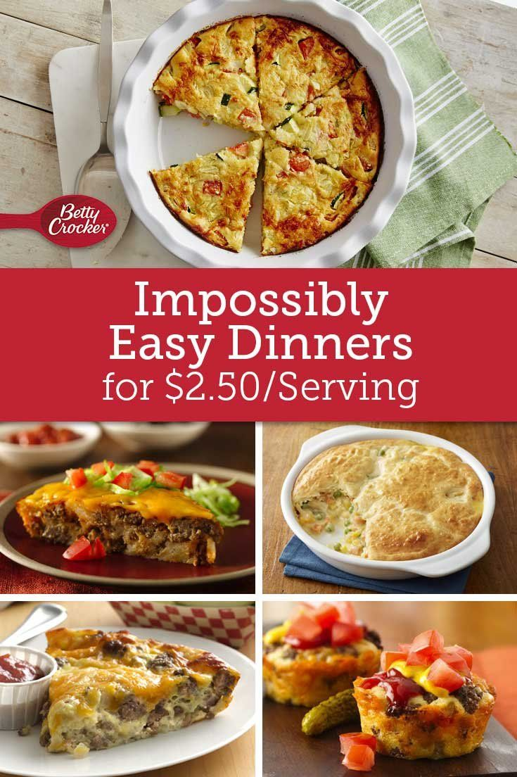Impossibly Easy Dinners for $2.50/Serving images