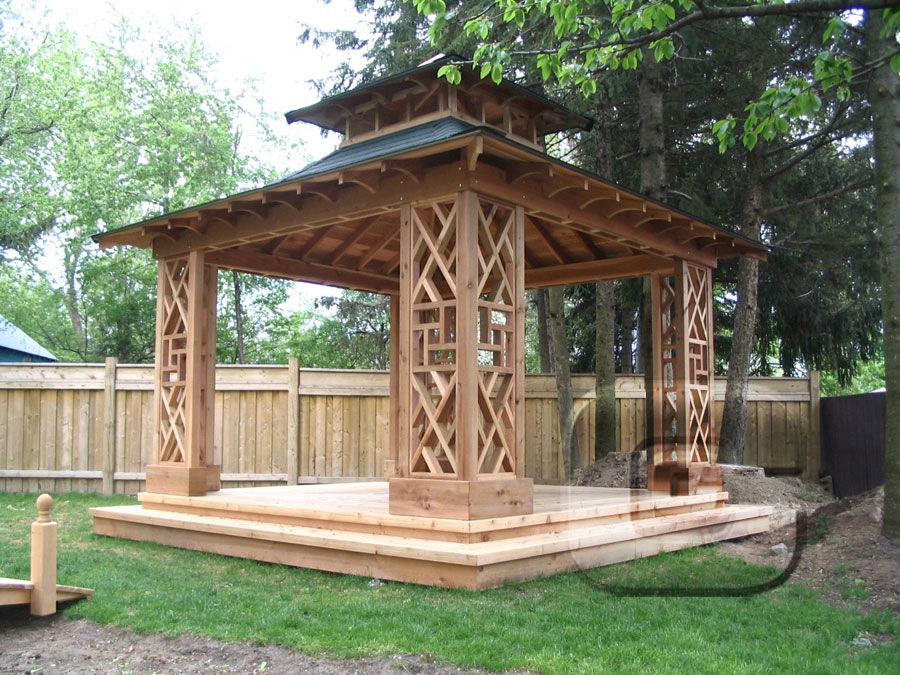 Gazebos custom cabanas garden sheds sheds gazebos for Japanese garden structures wood