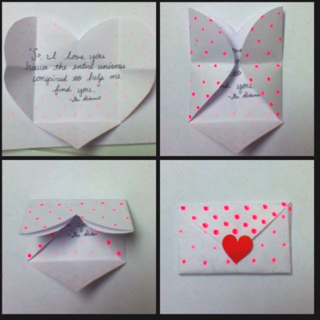 Diy Valentine S Day Cards For Boyfriend Pinterest With Images