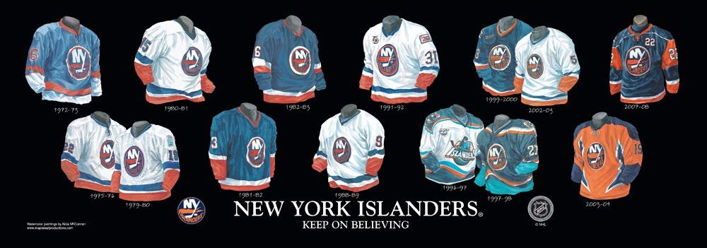 New York Islanders uniform history