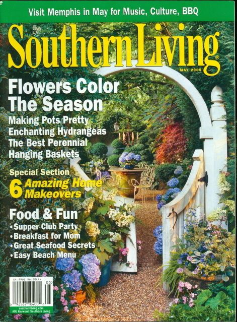 2005 Southern Living Magazine Flowers Color The Season Making Pots