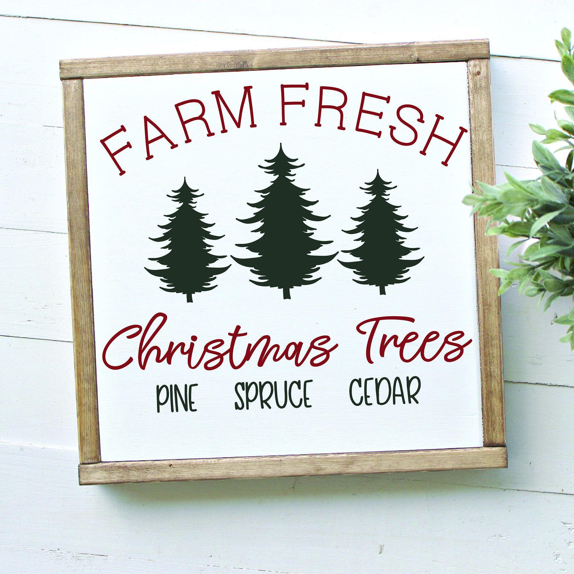 Farm Fresh Christmas Trees SVG by RosemaryDesignsLLC on