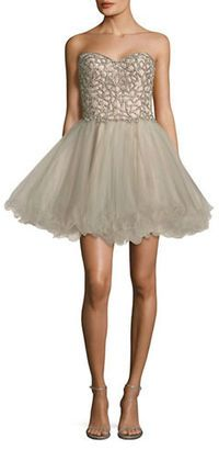 Glamour By Terani Couture Beaded Prom Dress #prom