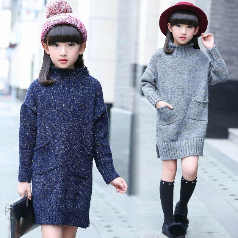 2b82a2df94be Girls sweater pullover winter undershirt children sweater for girls  turtleneck knitting pattern warm knitwear girls clothes