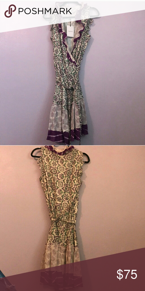 42808129f7 DVF Summer Paisley Cotton wrap dress Paisley multi color print, lovely  summer feel. Diane