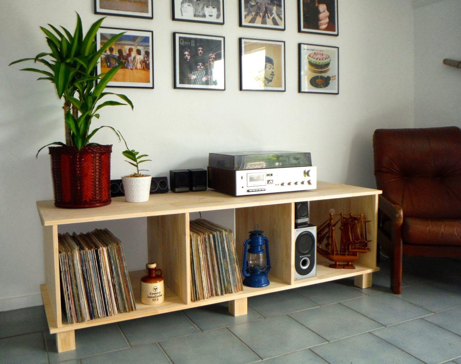 Diy Vinyl Record Player Cabinet Homey Stuff In 2019