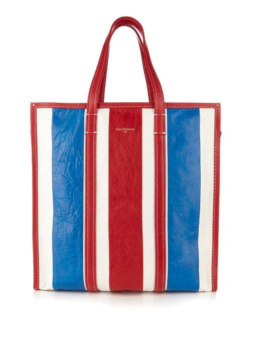 BALENCIAGA Bazar Medium Grained-Leather Shopper.  balenciaga  bags  leather   hand bags  canvas  lining   1babff2929cf6