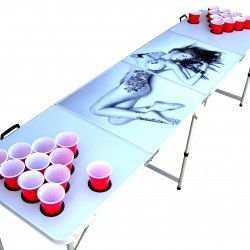 Sexy Naked Tattoo Girl beer pong table  cab35f24c