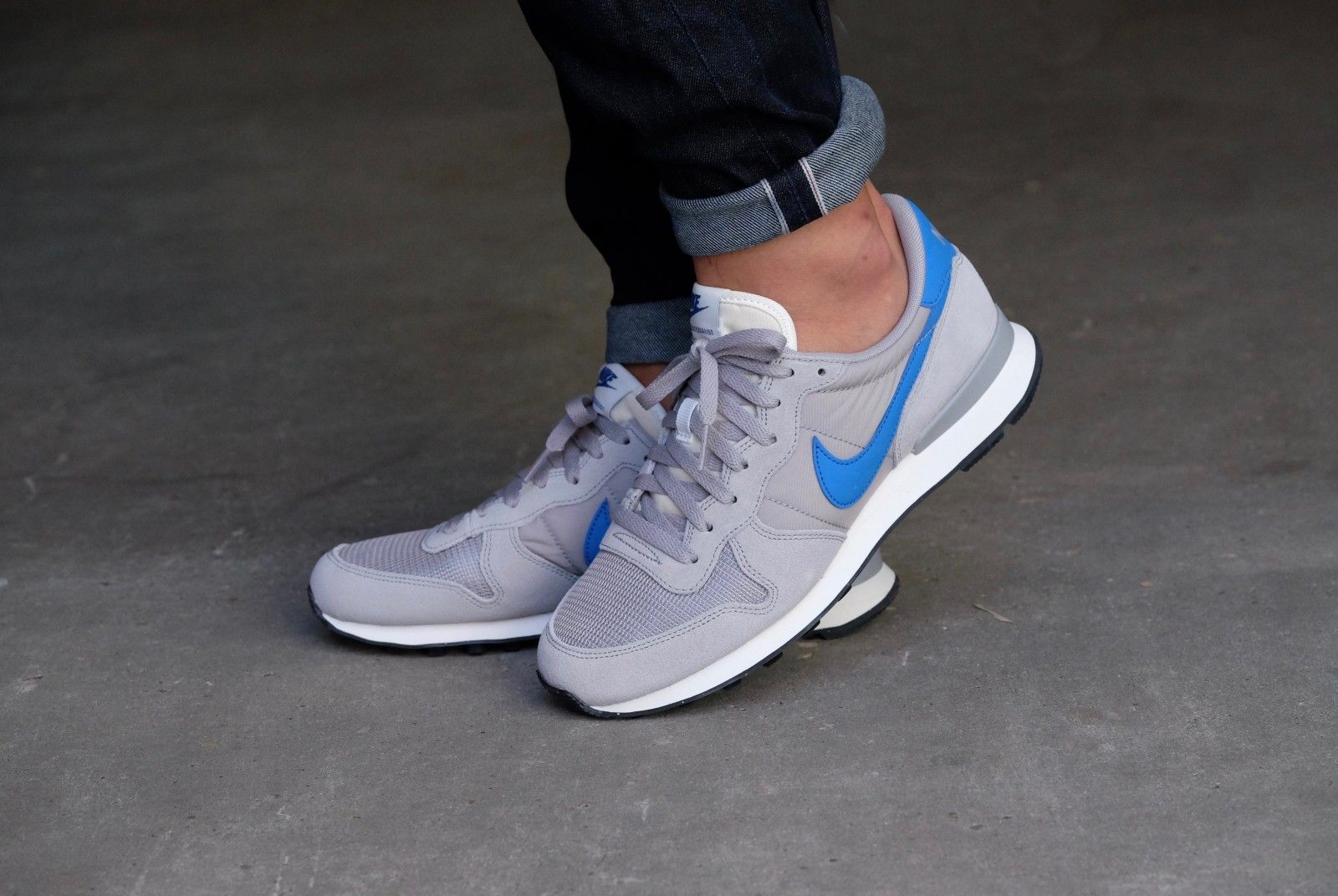 nike internationalist blauw zilver