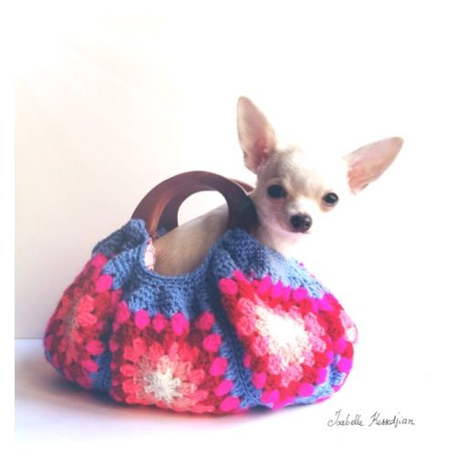 Chihuahua In A Granny Square Bag I Heart Dogs Pinterest