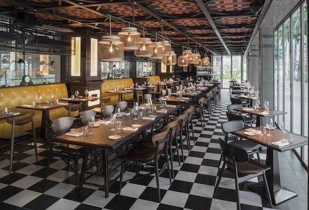 Restaurant Bread Street Kitchen In Singapore Gordon Ramsay Eco Chair Bread Street Kitchen Restaurant Table