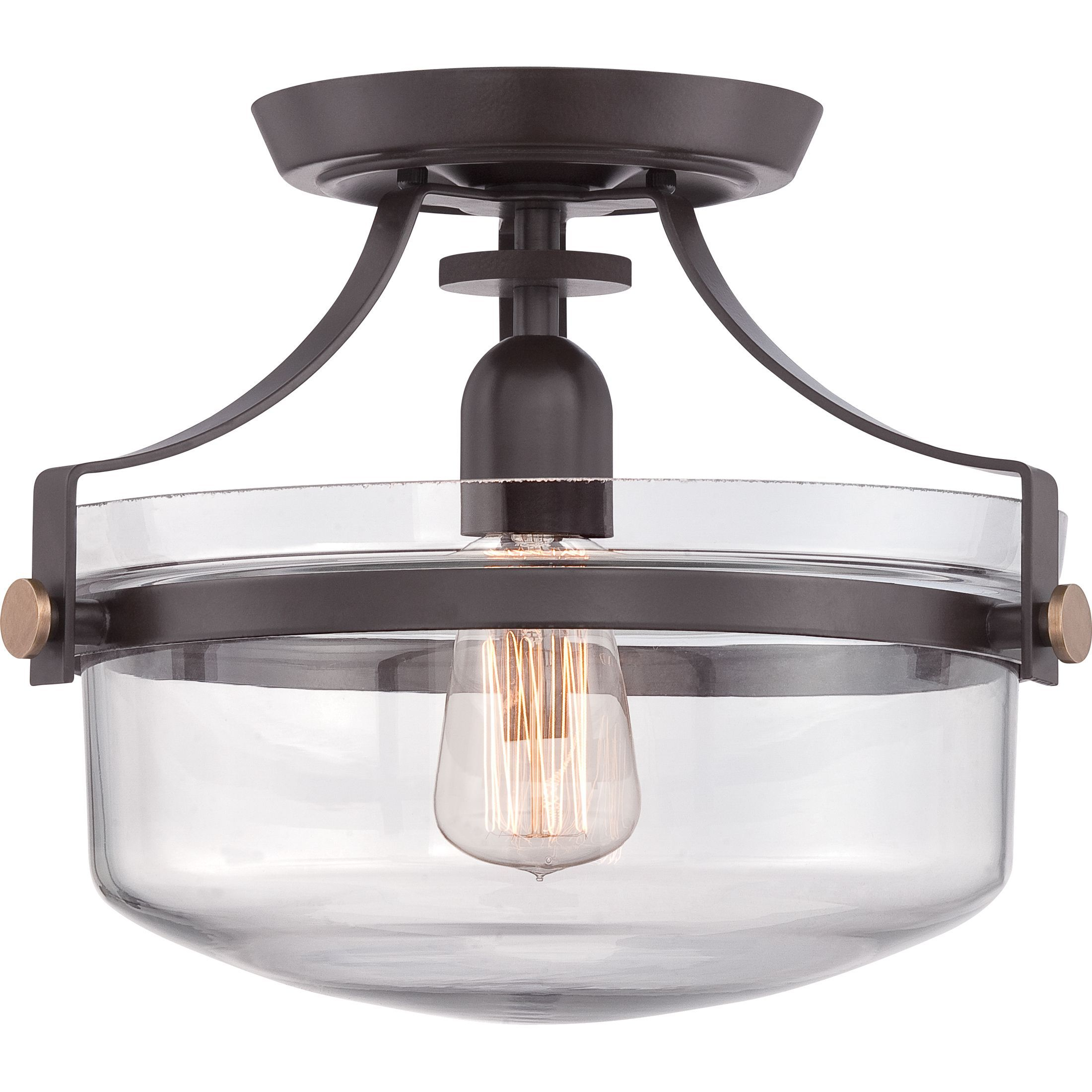 Update your home decor with this beautiful glass semi flush mount lights mozeypictures Choice Image