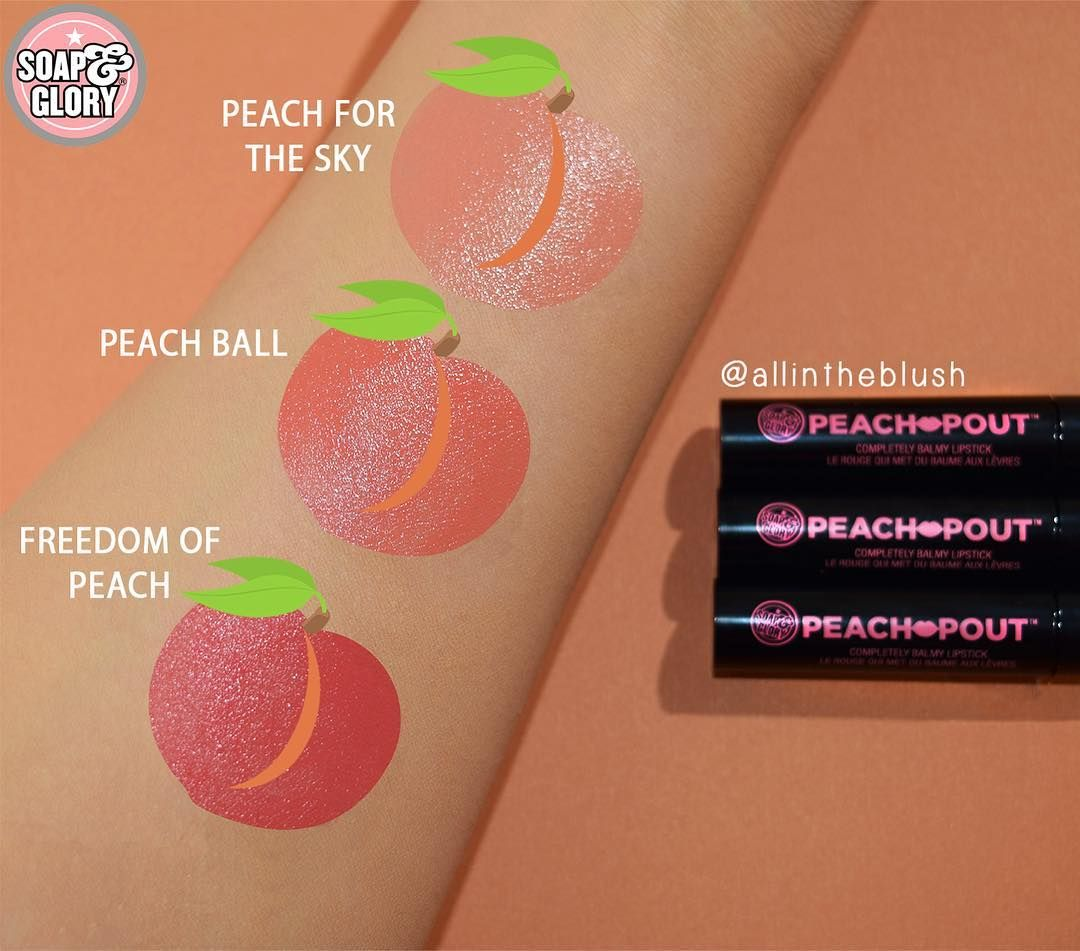 """All in the Blush on Instagram """"🍑SOAP & GLORY PEACH POUT"""
