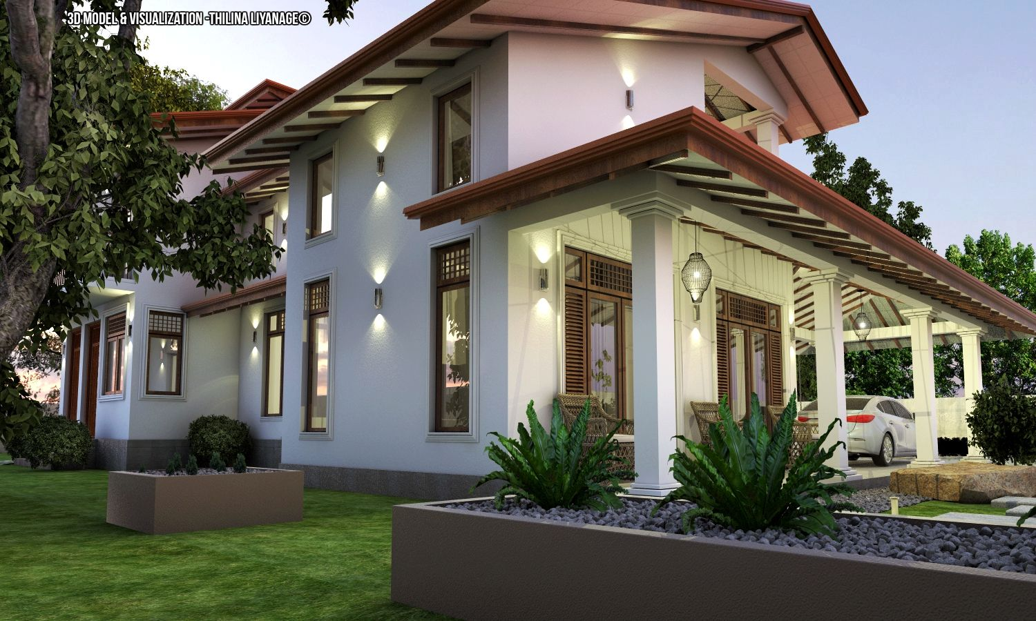 proposed house at nittambuwa sri lanka house including car porch rh pinterest es