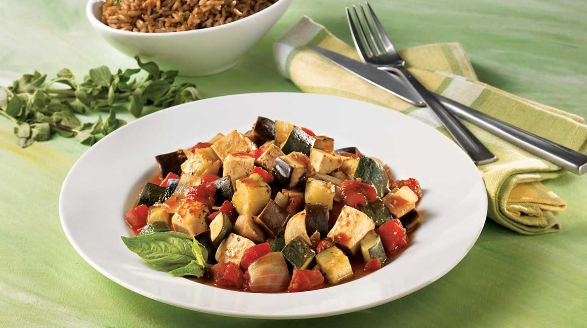 Ratatouille au tofu | Recette | Recette facile
