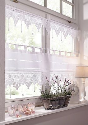 querbehang matterhorn hossner schlaufen 1 st ck in wei im online shop von baur versand. Black Bedroom Furniture Sets. Home Design Ideas
