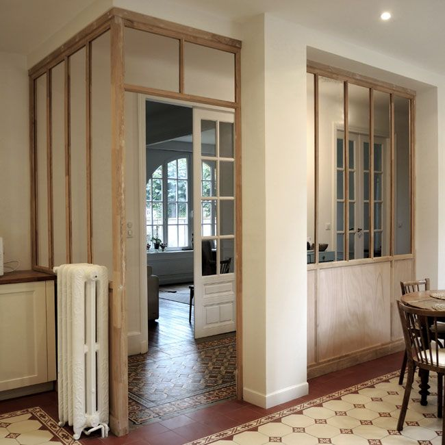 verrière intérieur sur mesure structure bois ✦Cloisons verrière