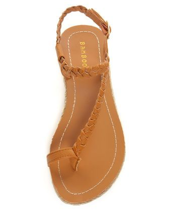 f9efe1c6d2f6d6 Bamboo Roundy 01 Chestnut Brown Braided Thong Sandals  lovelulus ...