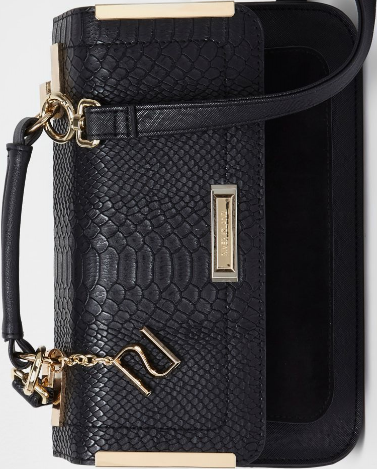 River Island Black Embossed Mini Satchel | Emboss, River island ...