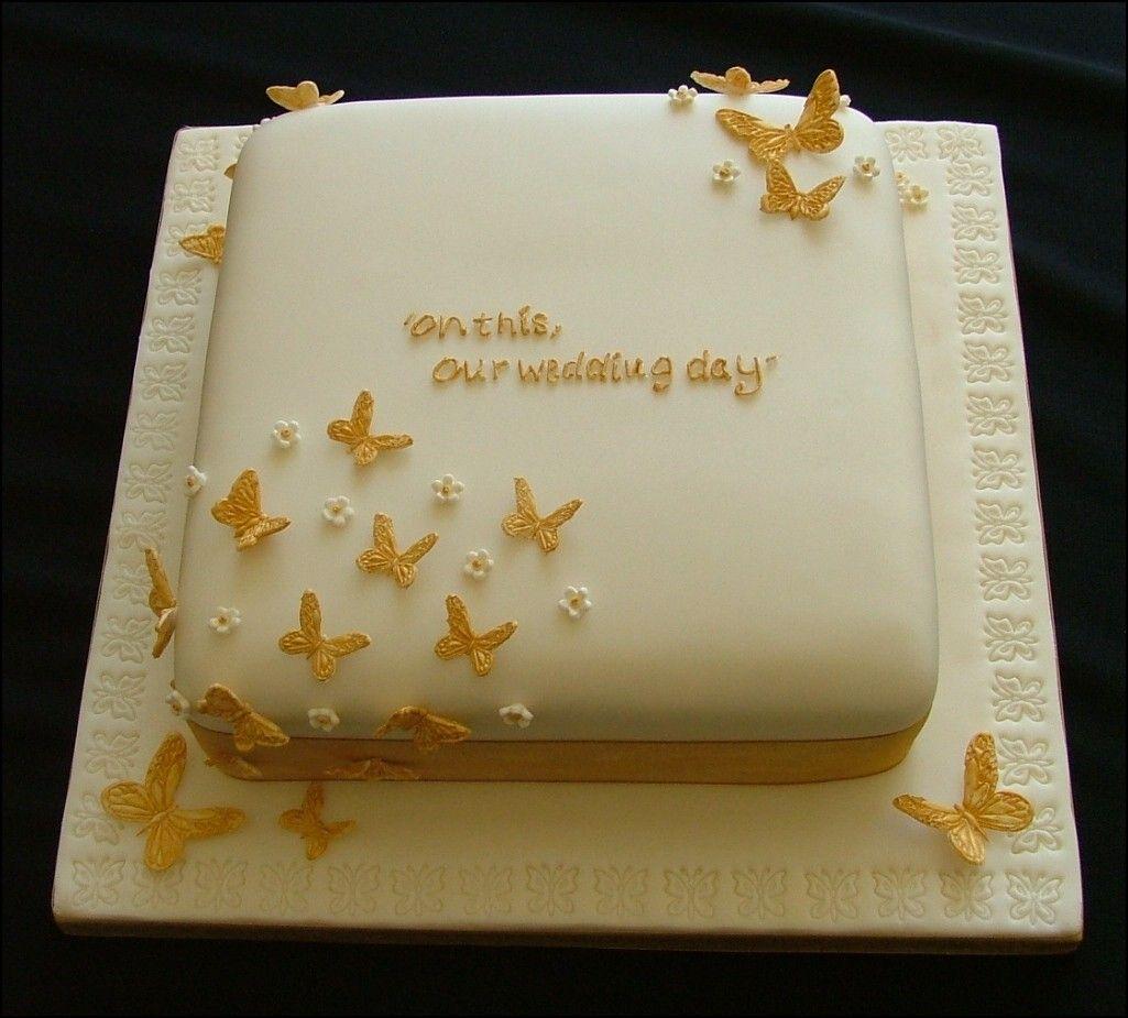 1 Tier Square Wedding Cake