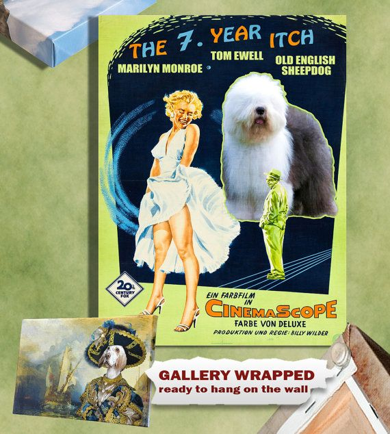 Old English Sheepdog Vintage Movie Style Poster By Nobilitydogs