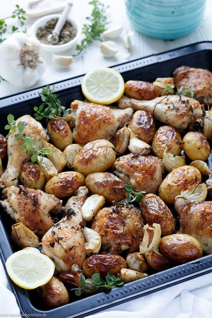 Kartoffel Hähnchen vom Backblech griechische Art – emmikochteinfach