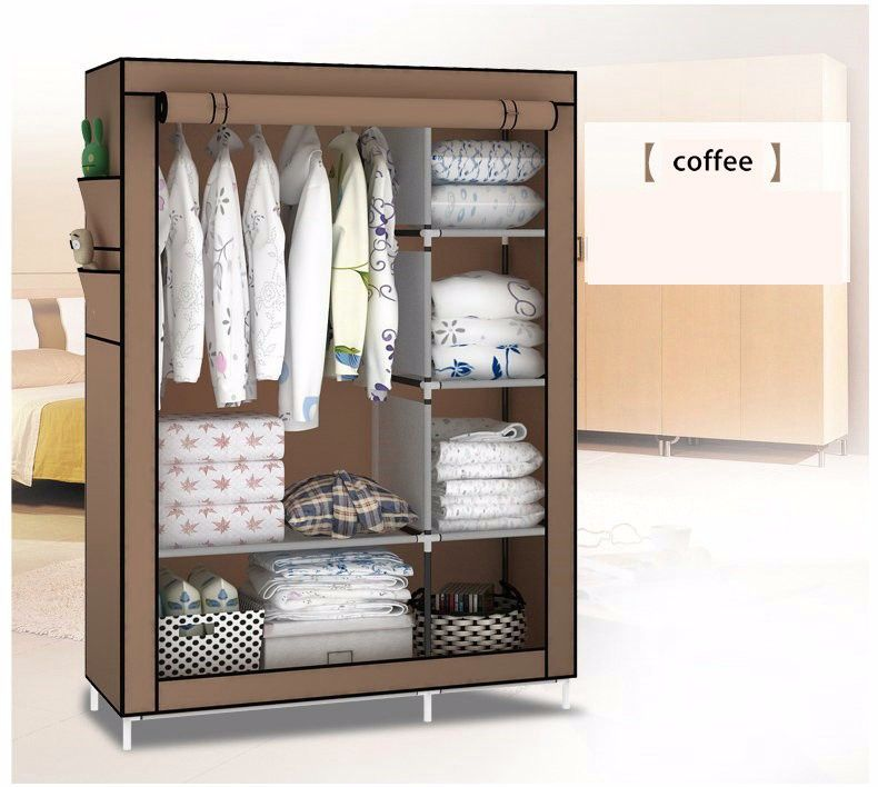 3d Pattern Wardrobe Non-woven Folding Cloth Wardrobe Reinforcement Combination Small Closet Assembly Clothes Storage Cabinet Terrific Value Home Furniture