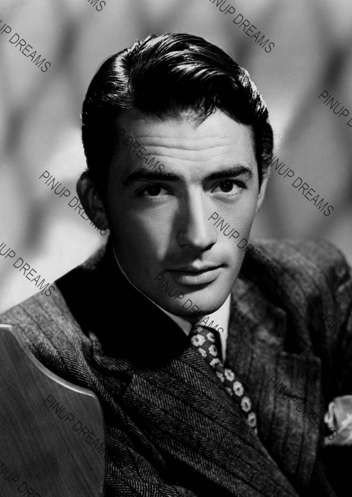 Vintage Photo Wall Art Print of Movie Star Legend Gregory Peck Poster Reprint A4