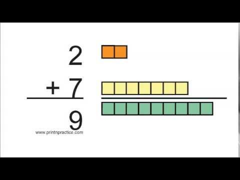 Addition Flash Cards, Video, And Worksheets 2