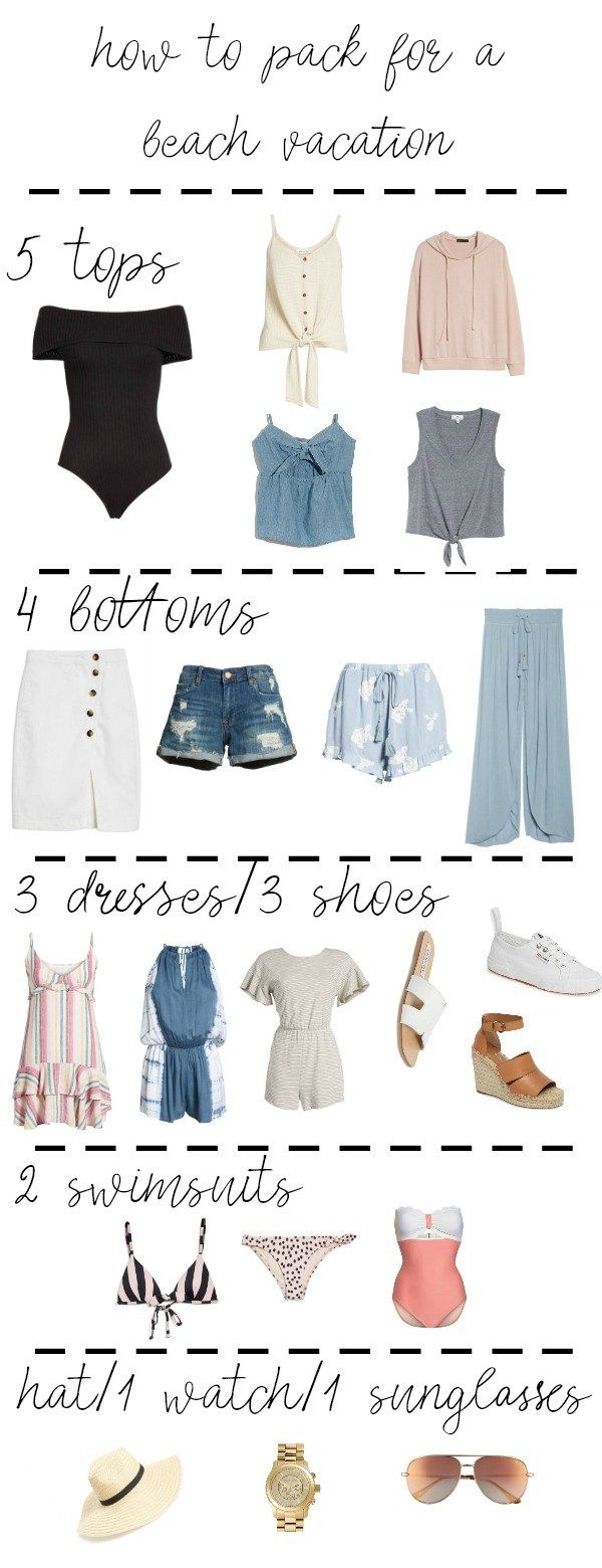 how to pack for a beach vacation - 54321 method #beachvacationclothes