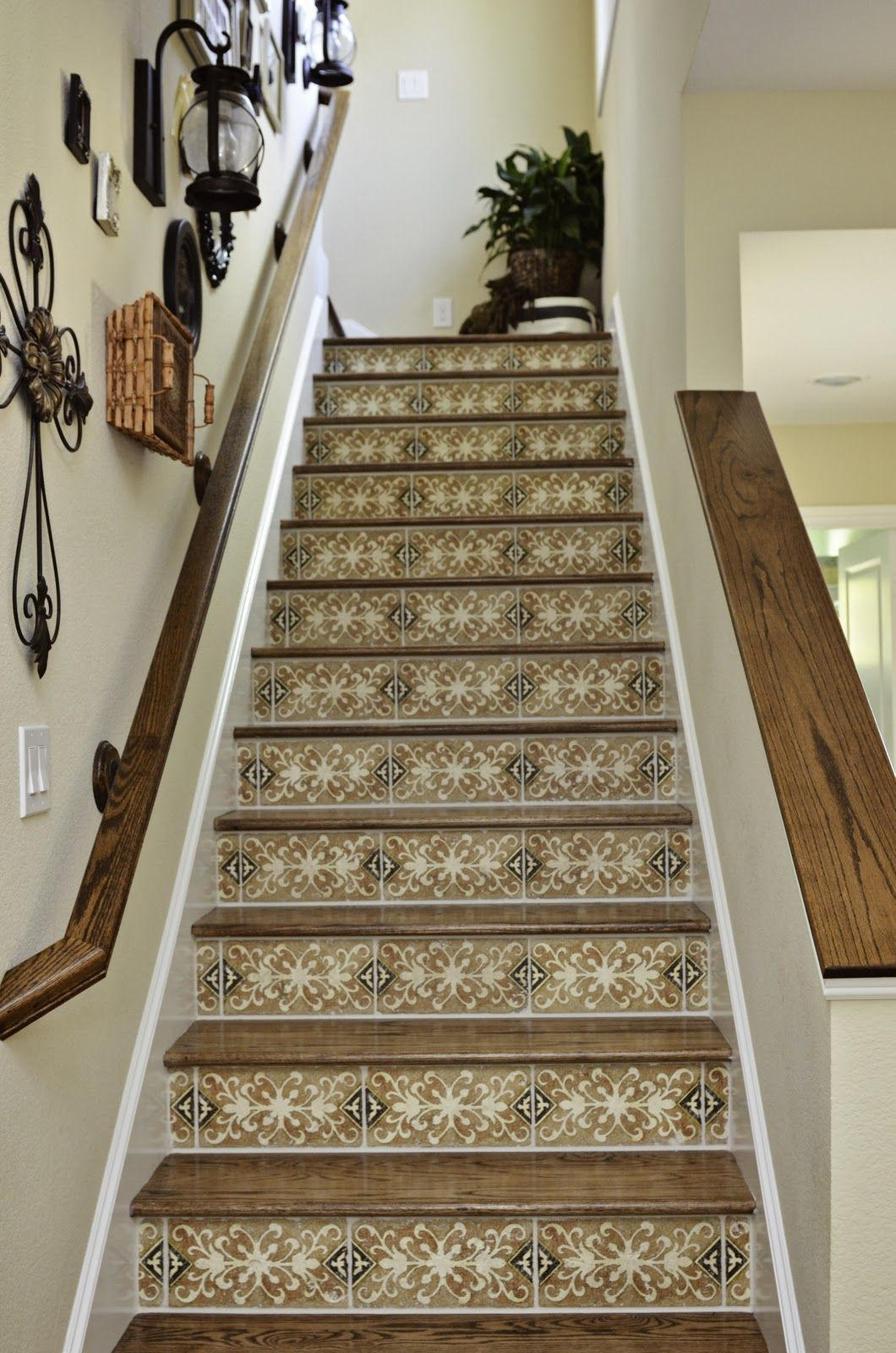Tiles On Stair Risers For The Home Pinterest Tile