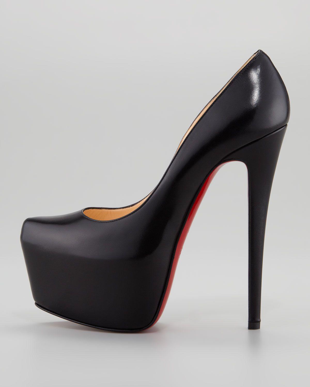 a8c5e3b2a90 Daffodile Platform Red Sole Pump, Black | Purses and shoes..love ...