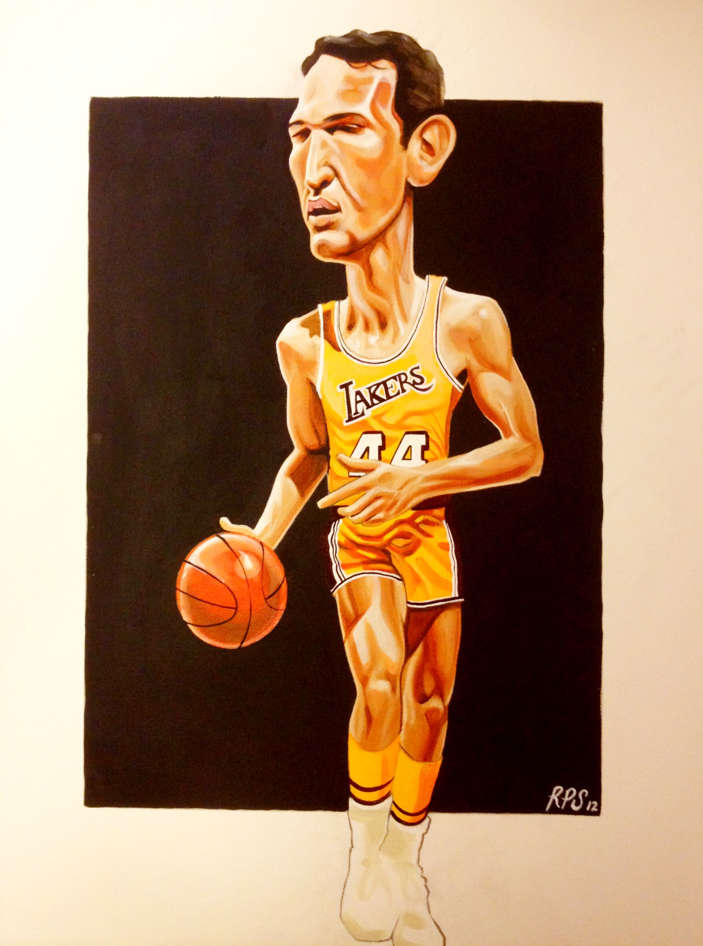 275 16x20 Lakers Jerry West