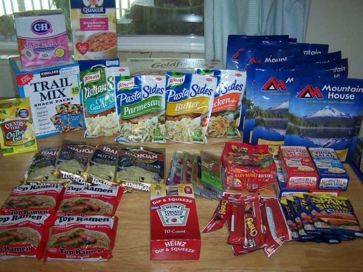 Ideas For 72 Hour Kit Food For Backpacks Prepping