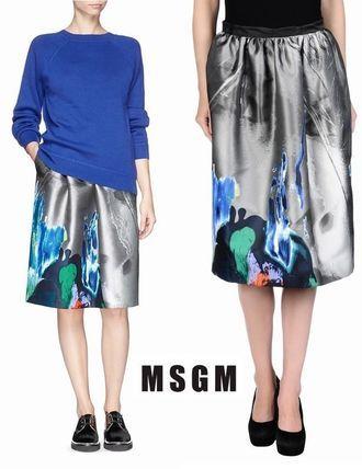 MSGM ☆ペイントプリントジャガードスカート