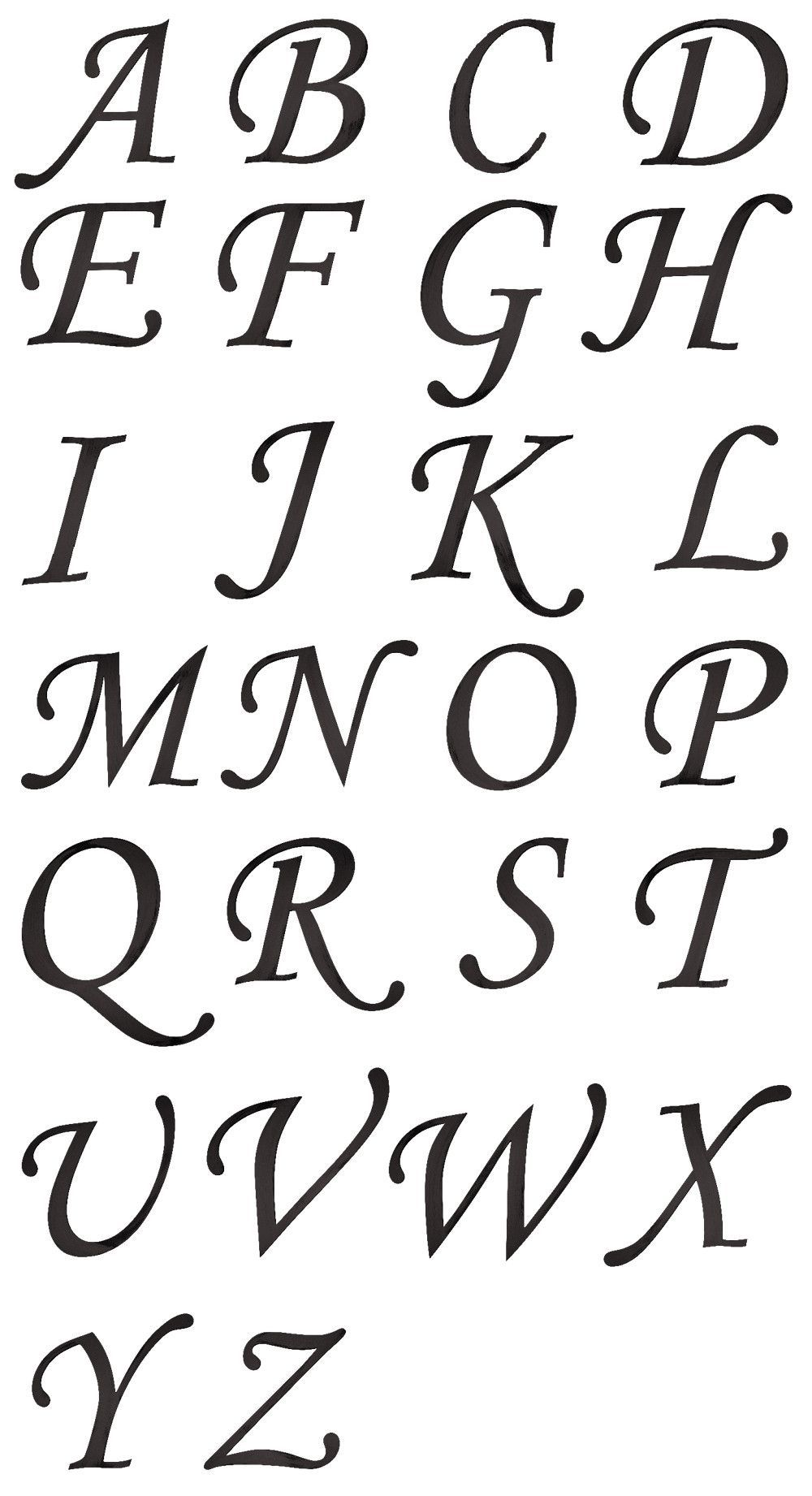 Script Letters A Z 13 And 18