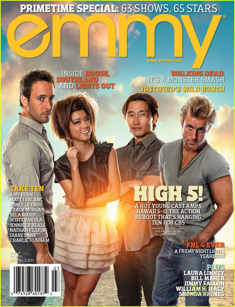Alex O Loughlin Emmy Cover With Hawaii Five 0 Cast Alex O Loughlin Hawaii Five O Hawaii