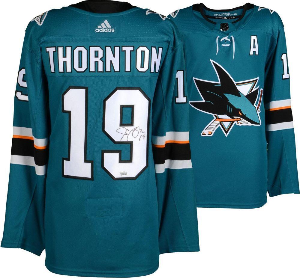07ca05ee4 Joe Thornton San Jose Sharks Autographed Teal Adidas Authentic Jersey