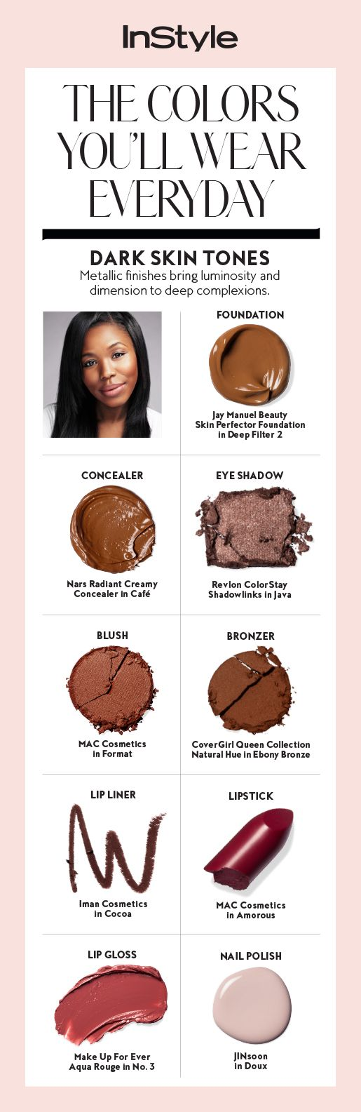 For Dark Skin Tones, Metallic Finishes Bring Luminosity And Dimension To  Deepplexions