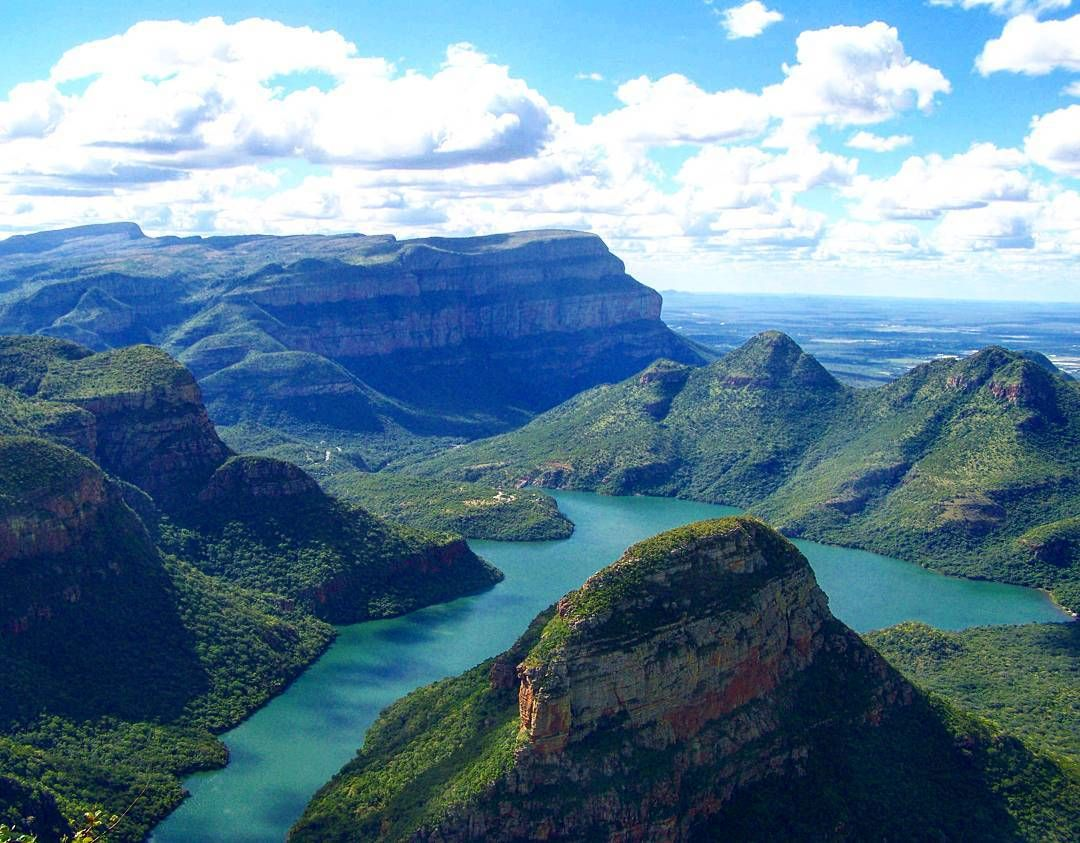 Magnificent view of blyde river canyon mpumalanga south