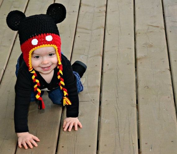 Crochet Mickey Mouse Hat - Disney Baby Beanie | Mickey mouse ...
