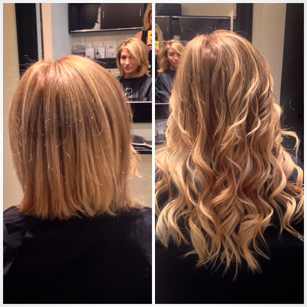 Before And After Of Subtle Ombre With Extensions Hair By Cassie