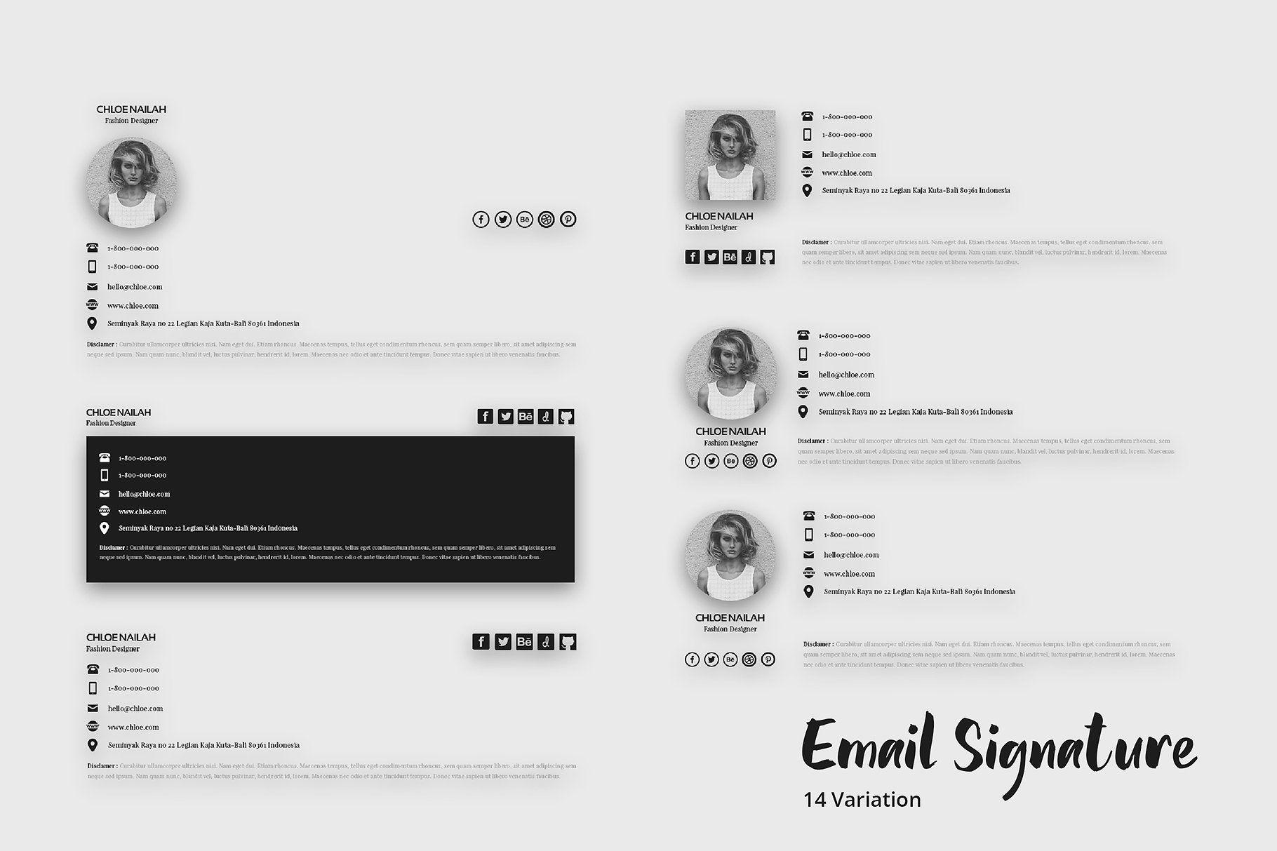 Email Signature Template Email signature templates