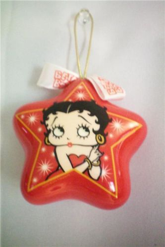 Vintage BETTY BOOP Ornament Red Puffy STAR Cute