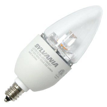 Sylvania 72894 B13 LED Chandelier Light Bulb 7W (60 Watt Replacement ...