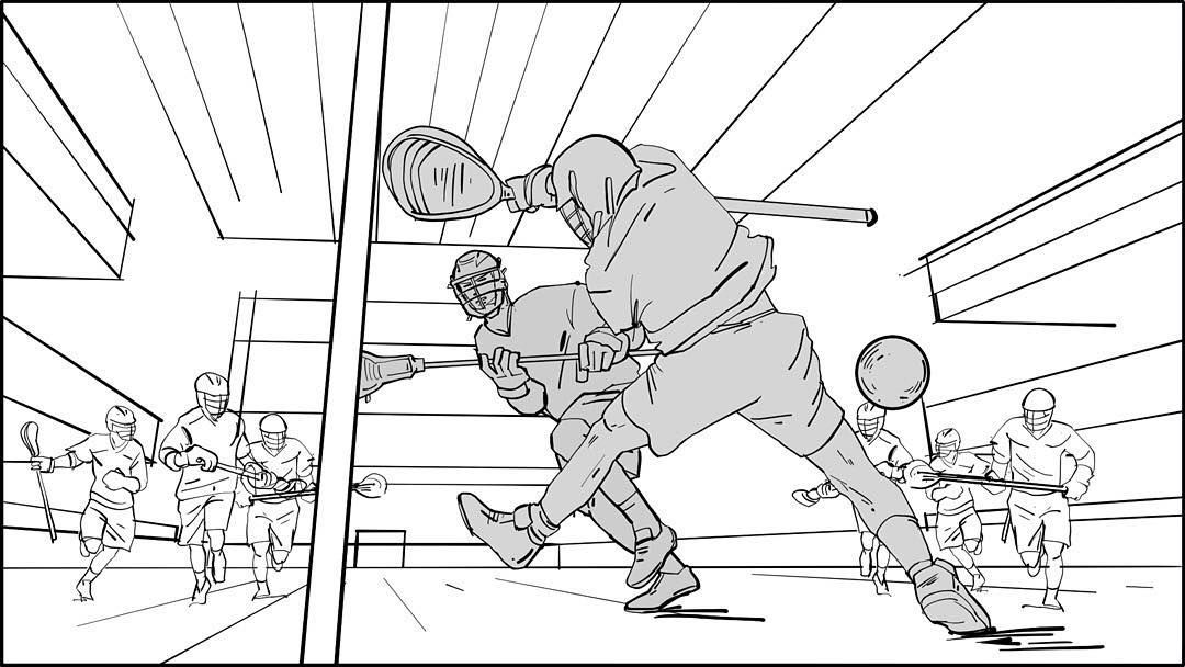 Shooter getting the ball past the goalie Storyboards by storyboard - script storyboard