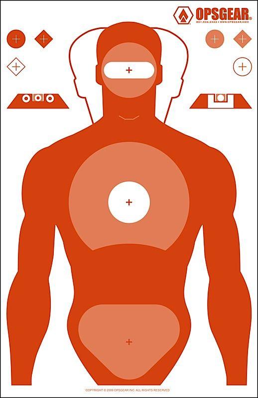 OPSGEAR Silhouette Target - Head shots for z's (center ...