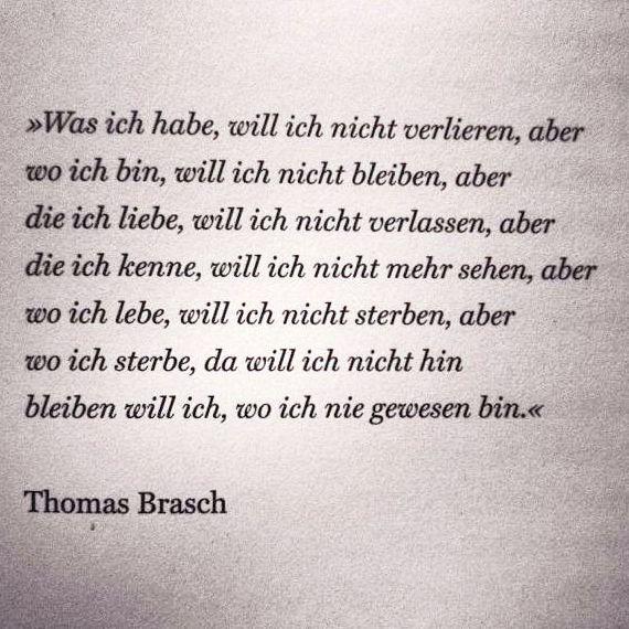 Thomas Brasch Sprüche Zitate Melancholie Zitate Und