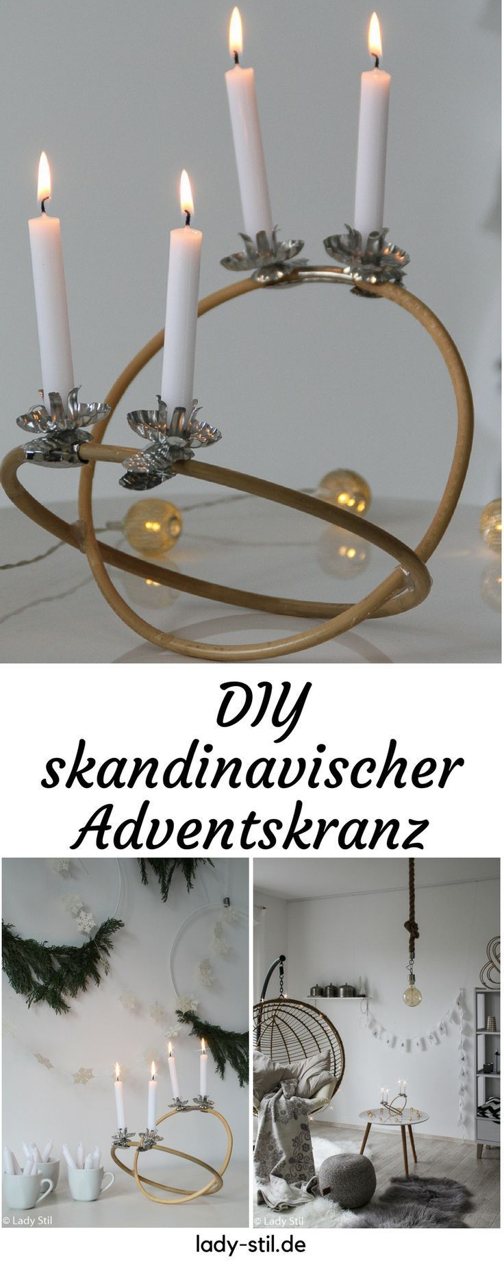 diy skandinavischer adventskranz schlicht und einfach. Black Bedroom Furniture Sets. Home Design Ideas